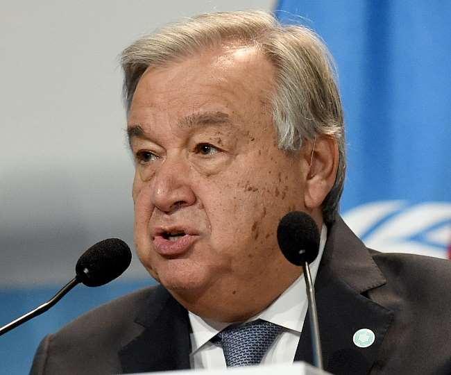 संयुक्त राष्ट्र प्रमुख एंटोनियो गुटेरस ने अफगानिस्तान में तालिबान की वापसी को लेकर दुनिया को आगाह किया है।