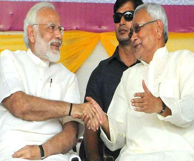 प्रधानमंत्री नरेंद्र मोदी और बिहार सीएम नीतीश कुमार। जागरण आर्काइव।