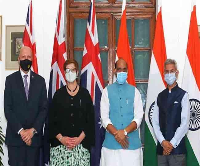 भारत ने ऑस्ट्रेलिया के साथ नई दिल्ली में पहली बार 2+2 मंत्रिस्तरीय संवाद की मेजबानी की