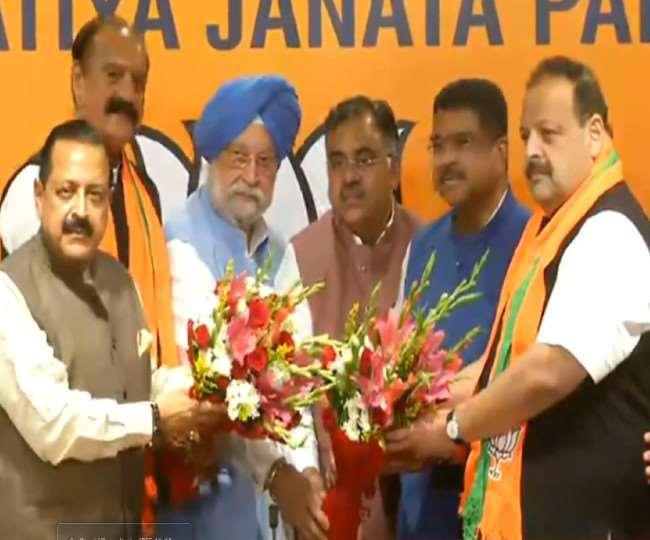 डॉ जितेंद्र सिंह की उपस्थिति में देवेंद्र सिंह राणा और सुरजीत सिंह सलाथिया भाजपा में शामिल हुए।