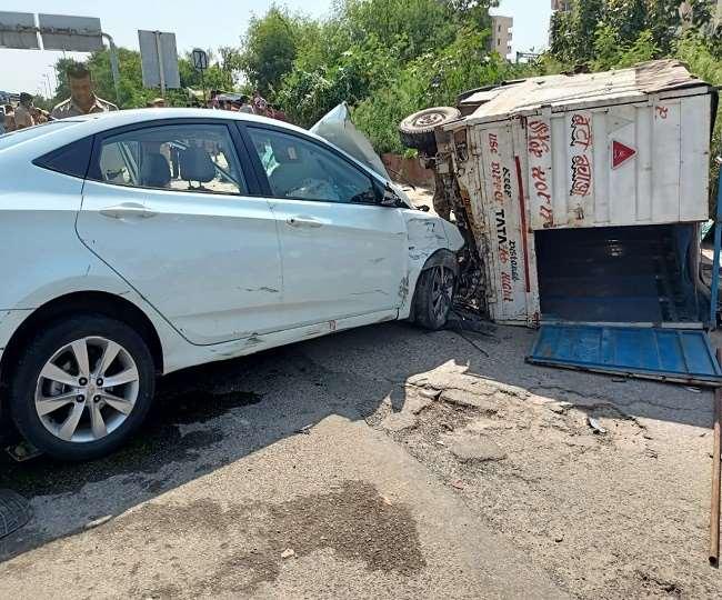 Delhi Accident News: अक्षरधाम के पास बेकाबू कार चालक ने कई लोगों को कूचला