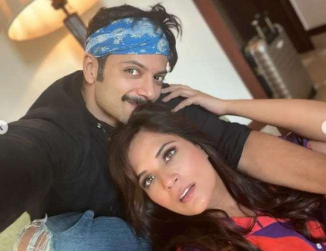Richa Chaddha with Ali Fazal. Photo- Instagram