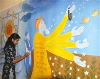 आर्टमॉस्फेयर गैलरी में कैनवास पर दर्शाए गुरु नानक देव जी के संदेश