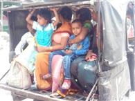 हादसे से बेपरवाह डग्गामार वाहन भर रहे हाईवे पर फर्राटा