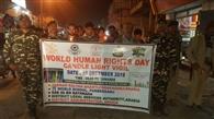 मानवधिकार दिवस पर शहर ने निकाला गया कैंडल मार्च