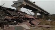 बड़गाई लेम में बन रहे निर्माणाधीन पुल की सेंट्रिंग गिरी, तीन मजदूर घायल