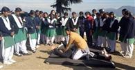 छात्राओं ने ली आत्मरक्षा की सीख