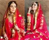 Hina Khan Bridal Photoshoot : बिग बॉस एक्स कंटेस्टेंट हिना खान का दुल्हन लुक, तस्वीरें वायरल