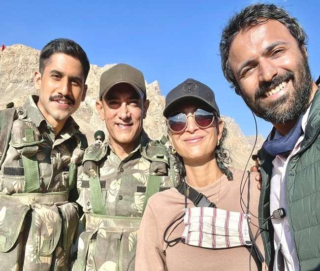 फिल्म लाला सिंह चड्ढा की टीम, फोटो साभार: Twitter