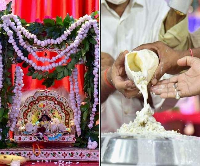 Shri Krishna Janmashtami 2020 Lucknow: Shri Krishna was born in the middle  of the night, the city of Laxman resonated with joy