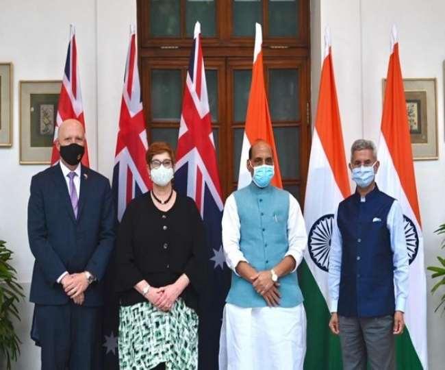 भारत और आस्ट्रेलिया के बीच हुई 'टू प्लस टू' वार्ता ।