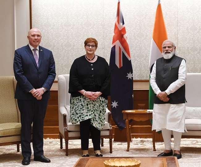 भारत आए आस्ट्रेलियाई मंत्रियों ने प्रधानमंत्री से मुलाकात की।