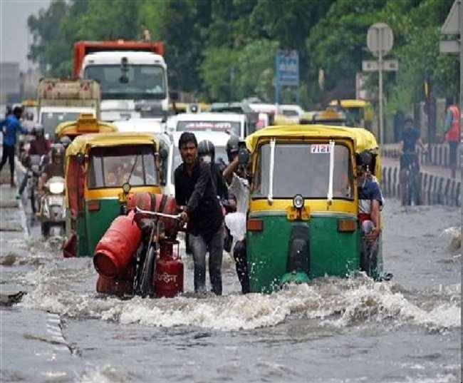 पिछले 24 घंटे में दिल्ली-एनसीआर में रिकार्ड स्तर पर हुई बारिश