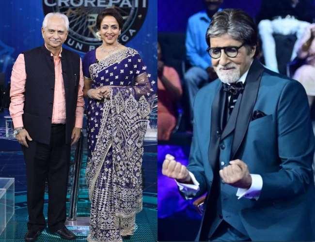 KBC 13: हेमा मालिनी, अमिताभ बच्चन ने रीक्रिएट किया फिल्म शोले का सीन- Watch Video