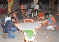 मोक्षधाम पर मनी देव दीपावली, हुआ पूजन