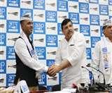 AAP ने भाजपा-कांग्रेस और बसपा में लगाई सेंध, पूर्व मेजर समेत कई नेता पार्टी में शामिल