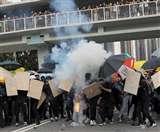 हांगकांग में अमेरिकी दखल, पुलिस और प्रदर्शनकारियों से संयम बरतने की अपील