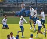 Ind vs Ban: गुलाबी और लाल गेंद के फेर में भारतीय खिलाड़ी, दोनों गेंदों से किया अभ्यास