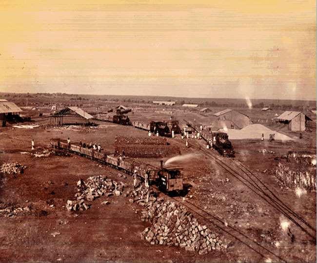 नई दिल्ली के राजधानी बनने के दौरान का एक दृश्य। 'सौजन्य : दिल्ली अभिलेखागार विभाग