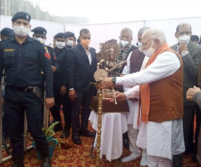 गांव दौलताबाद में आइबीएमए के शिलान्यास समारोह में पहुंचे थे मुख्यमंत्री