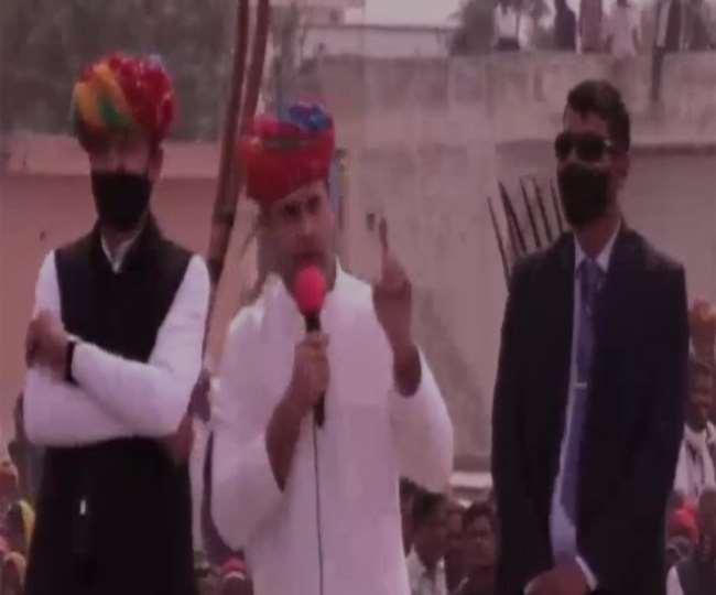 अजमेर में कांग्रेस नेता राहुल गांधी। फाइल फोटो