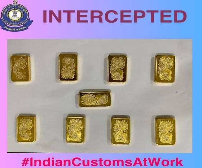 दिल्ली एयर पोर्ट पर 44 लाख रुपये का सोना बरामद, रियाध से लेकर आ रहे थे 2 भारतीय यात्री