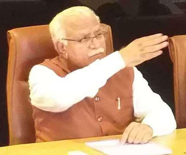 हरियाणा के मुख्यमंत्री मनोहरलाल की फाइल फोटो।