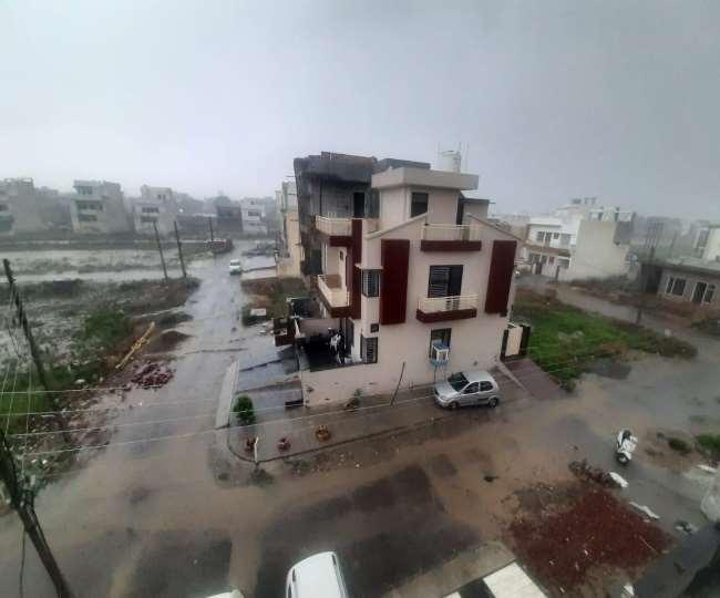 करनाल में मानसून की पहली बारिश ने रिकॉर्ड तोड़ा।