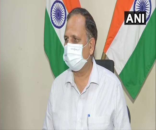 दिल्ली के स्वास्थ्य मंत्री सतेंद्र जैनः फोटो- एएनआइ
