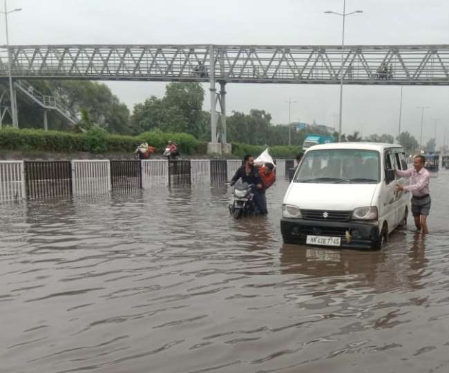 Weather Update Panipat Heavy rain occurred in surrounding areas including  Panipat and waterlogging in many places