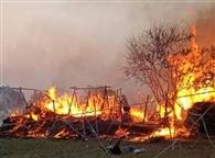 आग से आधा दर्जन घर जले