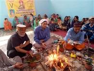 वाल्मीकि सभा ने पक्काटाला में किया शांति हवन
