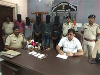 बाइक लूट कांड में संलिप्त पांच शातिर अपराधी गिरफ्तार