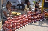 करवा चौथ को लेकर बाजारों में रौनक