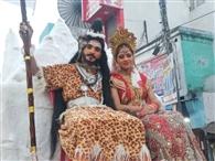 वाल्मीकि जयंती शोभायात्रा का शहर में भव्य स्वागत