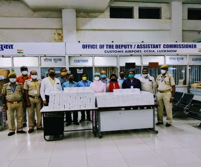 अमौसी एयरपोर्ट पर कस्टम विभाग की टीम ने पकड़ी 16.80 लाख की विदेशी सिगरेट