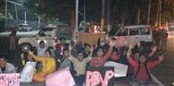 एबीवीपी ने सचिवालय के बाहर किया प्रदर्शन