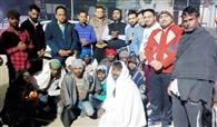 40 लोगों को कंबल वितरित