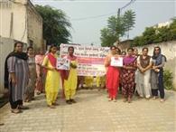 छात्राओं ने रैली निकाल नशे के खिलाफ किया जागरूक