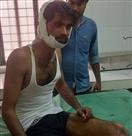 भोपा कस्बे में दुर्घटना, बच्ची समेत दो घायल