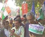 बिहार: महागठबंधन व वाम दलों का निकला संयुक्त आक्रोश मार्च, निशाने पर रहे PM-CM; नहीं पहुंचे तेजस्वी