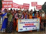 काशी में बेटियों ने पदयात्रा के दूसरे दिन महिला हिंसा और यौन उत्पीड़न के खिलाफ बुलन्द की आवाज