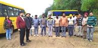 सेफ स्कूल वाहन पॉलिसी के तहत आठ स्कूल वाहनों के चालान काटे