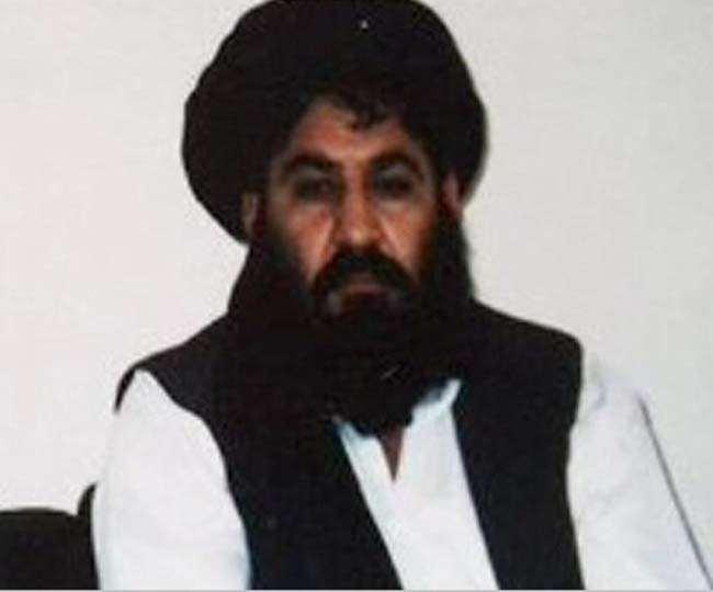 अफगान तालिबान प्रमुख मुल्ला अख्तर मंसूर की फाइल फोटो