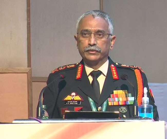 सेना प्रमुख जनरल मनोज मुकुंद नरवाने। (फोटो: एएनआइ)