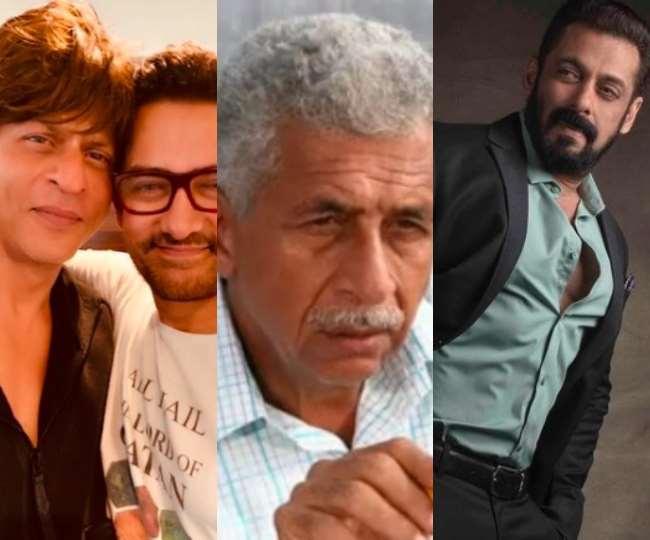 शाहरुख खान, आमिर खान, नसीरुद्दीन शाह, सलमान खान, तस्वीर- Instagram: iamsr/movie_man_blogger/beingsalmankhan