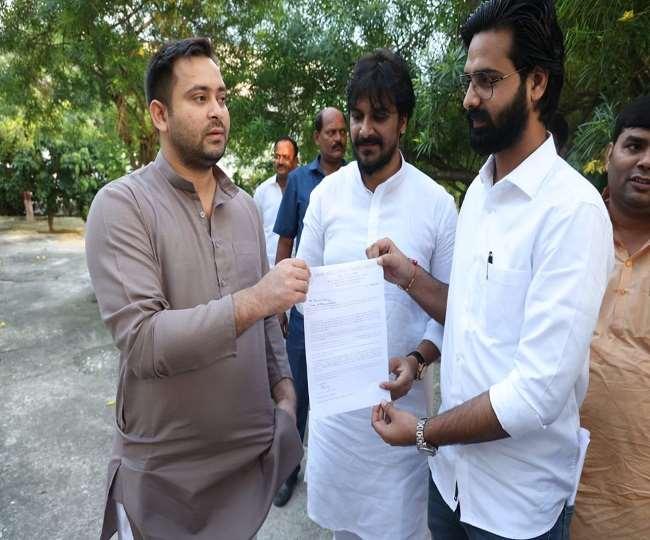 राजद नेता तेजस्वी यादव से मिले छात्र राष्ट्रीय जनता दल के नेता मोहम्मद महताब आलम