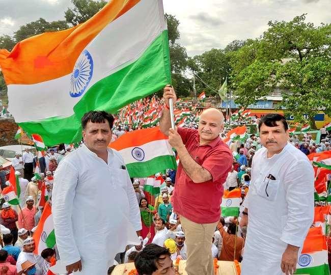 दिल्ली के उप मुख्यमंत्री मनीष सिसोदिया तथा राज्यसभा सदस्य संजय सिंह