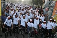 बाइकॉथन में साइकिल संग सेहत की लगाई दौड़