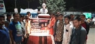 मुर्शीदाबाद हत्याकांड के विरोध में जलाया कैंडल